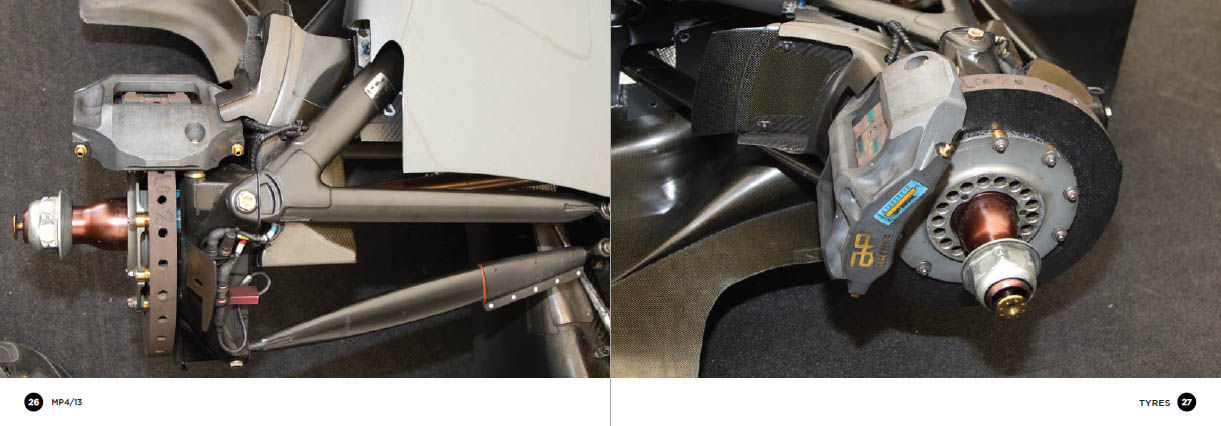 McLaren MP4/13 - calipers and brake discs