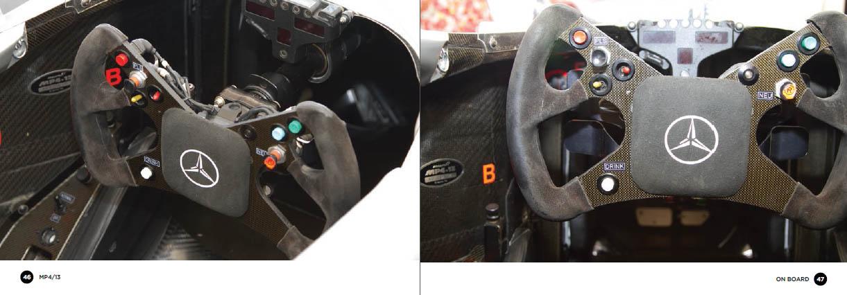 McLaren MP4/13 - cockpit detail