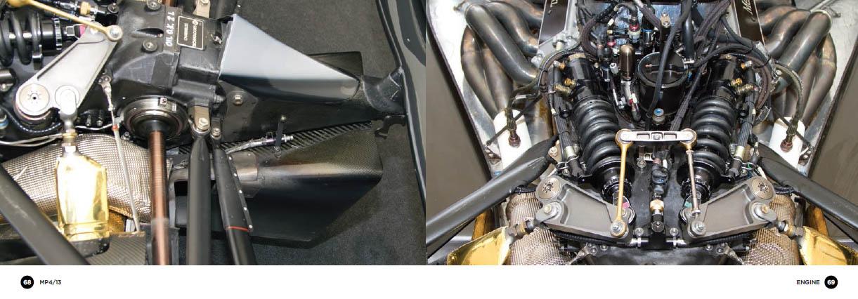 McLaren MP4/13 - engine detail