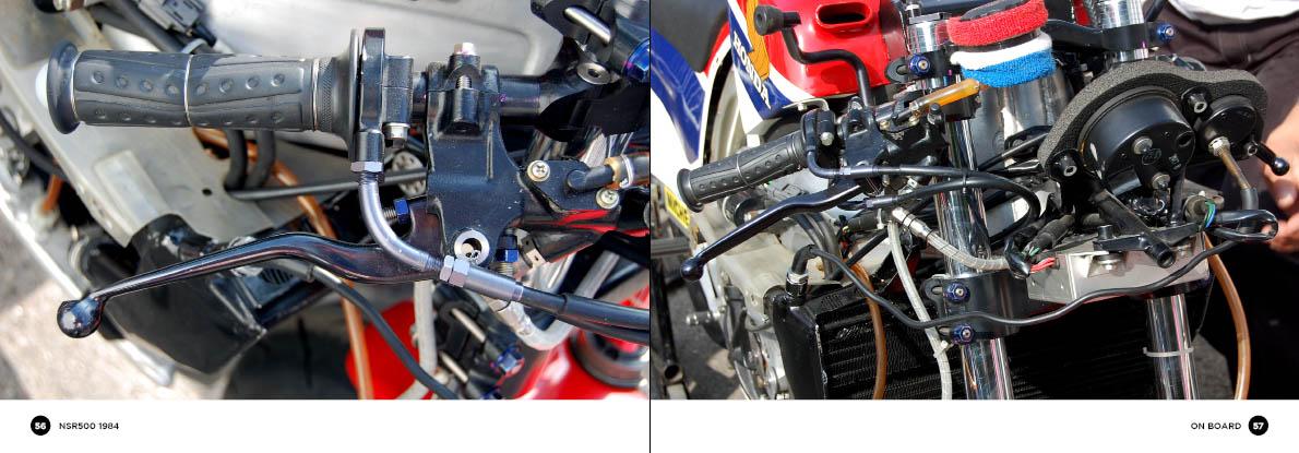 Honda NSR500 - onboard detail